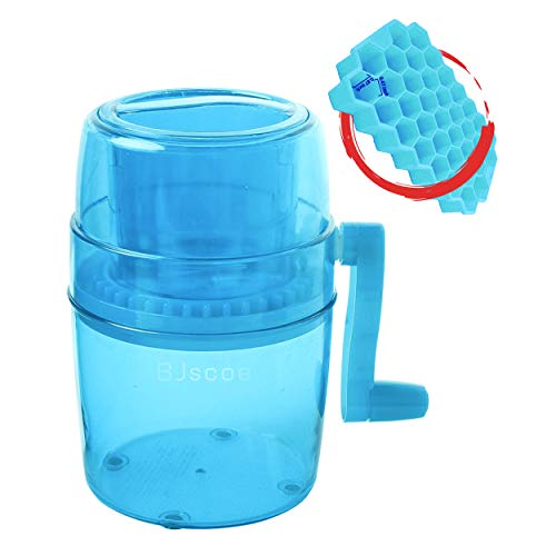 Ice Shaver and Snow Cone Machine,Premium Portable Manual Ice Crusher and Shaved Ice Machine with Free Ice Cube Trays - BPA Free