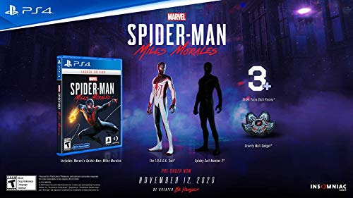 41SjM21 4ML - Marvel's Spider-Man: Miles Morales Launch Edition - PlayStation 4