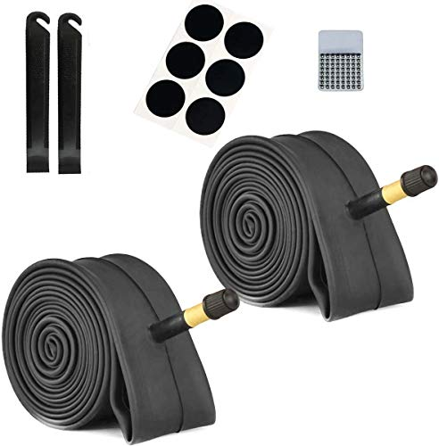 Mitwell Fahrradschlauch mit 2 Reifenhebern, 26x/1,95/2,215, Ersatz-Fahrradschlauch für 32 mm Schrader-Ventil, MTB Fahrrad-Innenschläuche, langlebiges Butyl-Gummi