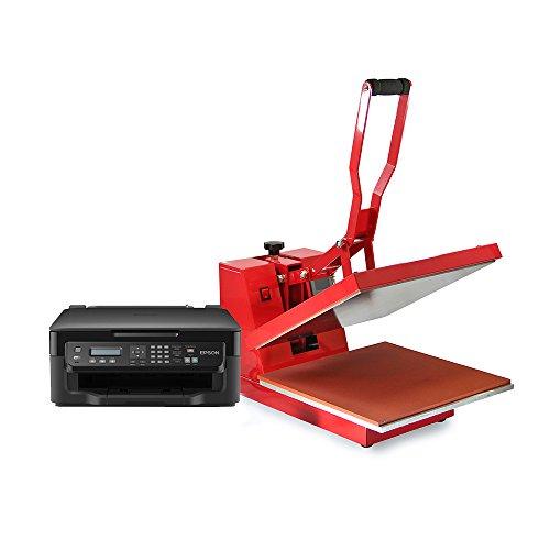 PixMax - Prensa Térmica 38cm x 38cm para Sublimación Camisetas & Impresora