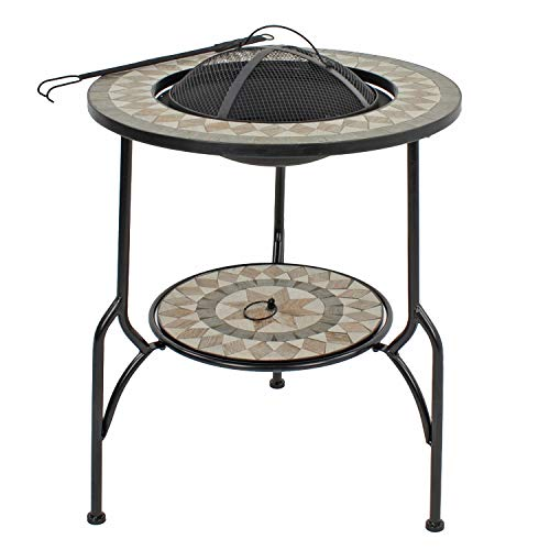 Summer Terrace BRAVA FIRE PIT Tall, Brown