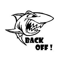 シ-ル 漫画のサメステッカー車ステッカー車 アップリケ (Color : Black)