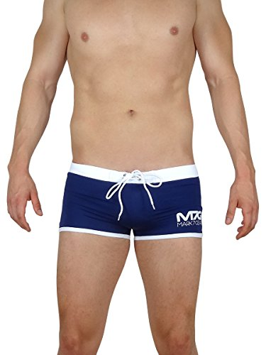 Mark7Gear - OCEAN FORCE - Navy Blue, Swimwear Herren, X-Large, mit eingearbeitetem JOCKSTRAP