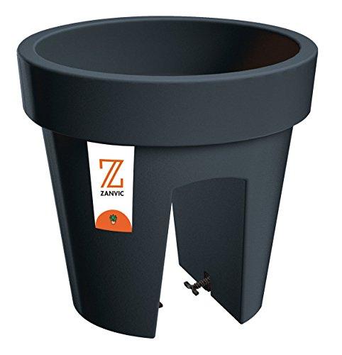 Zanvic Maceta lofly Railing 250, 25 x 23 cm, Antracita, 25x23x23 cm, ZA124