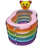 inChengGouFouX Piscina Inflable Casera Piscina Inflable de la Piscina de 4 Capas de 4 Capas Piscina de baño de 4 Capas Experiencia Confortable (Color : Amarillo, Size : 156x105x75cm)