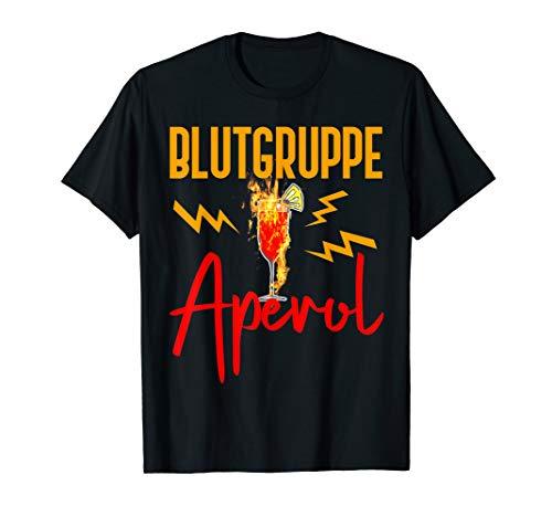 Damen Blutgruppe Aperol   Aperol Spritz   Aperol Geschenk T-Shirt