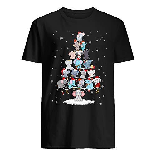 Vinsaco Eelefante lindo árbol de Navidad 7 niveles camiseta