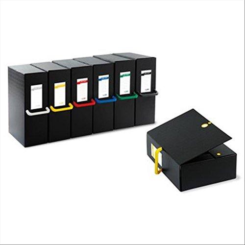 Sei Rota 68101610 Cartelle Porta Documenti e Progetti, Dorso 16 cm, Nero