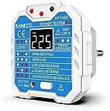 KAIWEETS® Steckdosentester, Diagnose-Stecker mit Kontrollleuchten-Anzeige, misst Sockel-Spannung,...