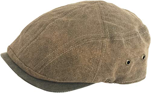 Stetson Weathered Cotton Ivy Cap (Light Brown, X-Large)