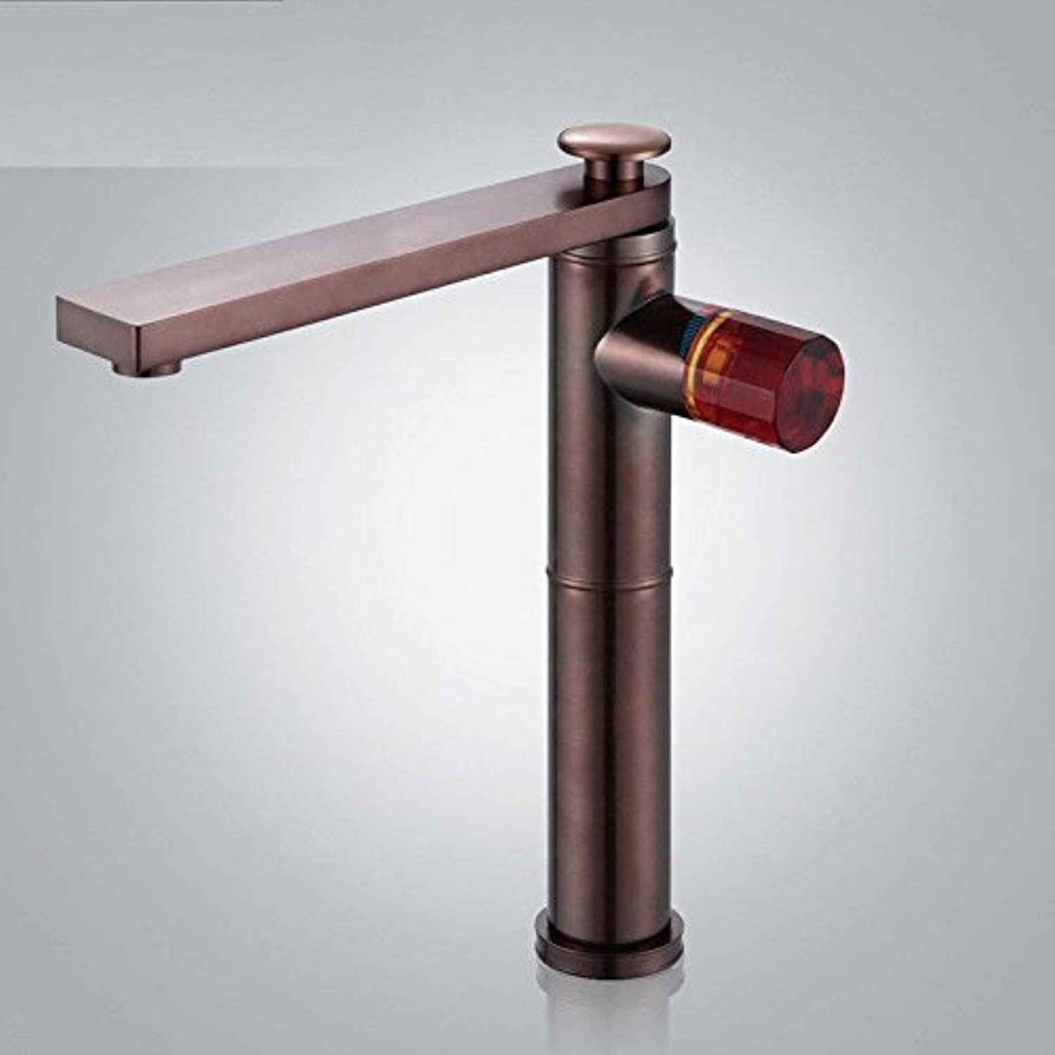 Commercial Bathroom Sink Taps Lpophy Bathroom Sink Mixer Taps Faucet Bath Waterfall Cold and Hot Water Tap for Washroom Bathroom and Kitchen Antique Copper Heightening Rotating Hot and Cold Restroom Fixtures
