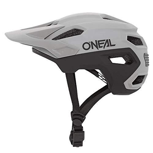 O'NEAL | Mountainbike-Helm | MTB All-Mountain | Lüftungsöffnungen zur Belüftung & Kühlung, Größenverstellsystem, Sicherheitsnorm EN1078 | Trailfinder Helmet Split | Erwachsene | Grau | Größe L/XL