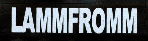 LAMMFROMM 2xLogos klein weiß/reflektierend für Julius K9® / Logo Klettlogo Austauschlogo K-9 Powergeschirr + IDC (IDC Baby1 + IDC/Power Baby2/MiniMini/Mini/