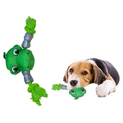 IGUDE Juguetes para perros para animadores agresivos, juguetes de perro chirriantes, juguetes de nailon para perros, juguetes interactivos, indestructibles, juguetes Pitbull indestructibles