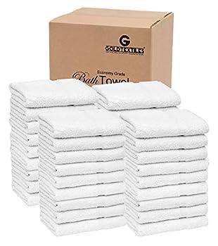 36 PCS New White 20X40 100% Cotton Economy Bath Towels Soft & Quick Dry  3 Dozen