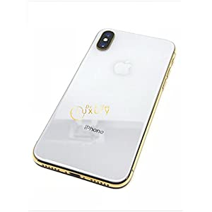 24K Gold Plated iPhone Xs 256 GB Silver - Unlocked Custom