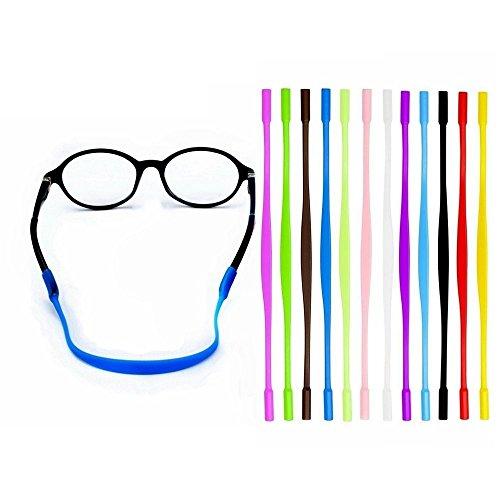 WJA 12 Colors Kids Eyeglass String Retainer, Anti-Slip Sports Eyewear Retainer, Glasses Sunglasses Cord Holder for Kids