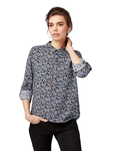 TOM TAILOR Damen Blusen, Shirts & Hemden Gemusterte Bluse Navy millefleur,36