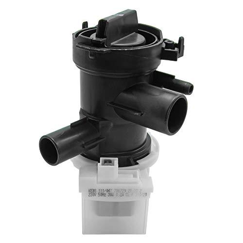 Laugenpumpe/Pumpe/Ablaufpumpe für diverse Waschmaschinen von Bosch/Siemens/Constructa | passend wie 00145212/145212 | ersatzteilshop basics
