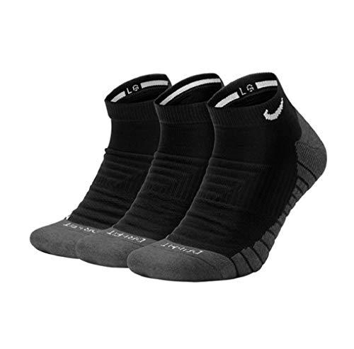 Nike Everyday Max Cushion No-Show Socks Socken 3er Pack (L, black/white)