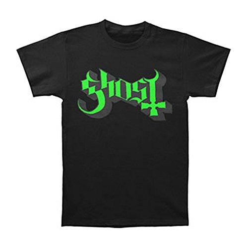 Ghost Herren Green/Grey Keyline Logo T-Shirt, Schwarz, M