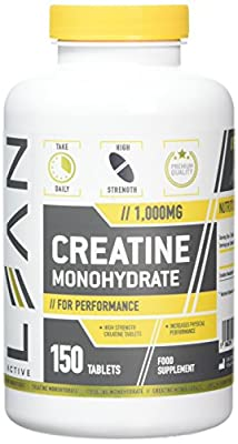 LEAN Nutrition Creatine Monohydrate Tablets - Creatine Capsules For High Intensity Workouts - High Strength 1000mg by LEAN Nutrition