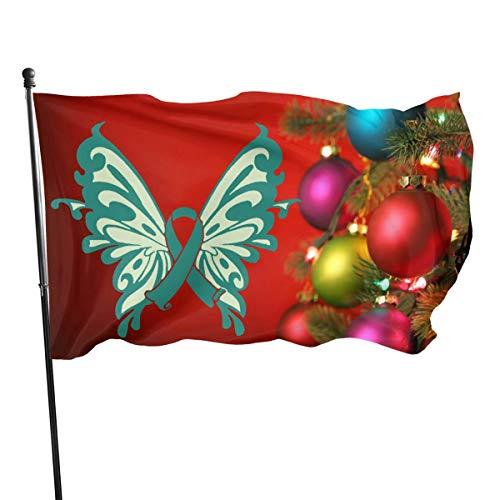 Xinz-00 Flagge Ägyptische Göttin Isis 90 x 152 cm Polyester – lebendige Farben und UV-beständig, Ribbon Cervical Cancer Awareness, Einheitsgröße