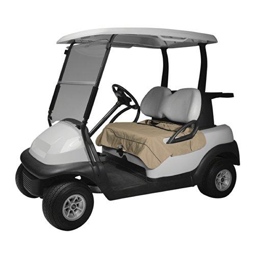 Classic Accessories Fairway Golf Cart Seat Blanket/Cover, Light Khaki , Medium