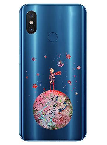 Alsoar Compatible para Funda Xiaomi Mi 8 Carcasa Silicona TPU Suave Transparente...