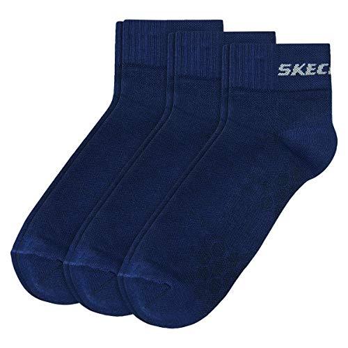 Skechers 3 Paar Unisex Quarter Socken SK42017, Farbe:Navy, Socken & Strümpfe:47-49