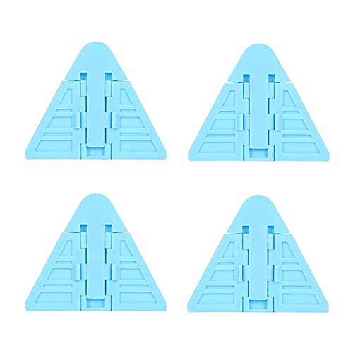 KUOZEN Seguridad Puertas NiñO Seguridad Bebe Cerraduras Infantiles para Puertas de armarios Cerraduras de Seguridad para niños Blue