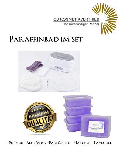 Paraffinbad/Wachserwärmer 3L Digital im Set inkl. 4x 750g Paraffinwachs Lavendel & Zubehör