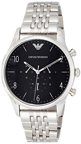 Emporio Armani heren chronograaf kwarts horloge met roestvrij stalen armband AR1863