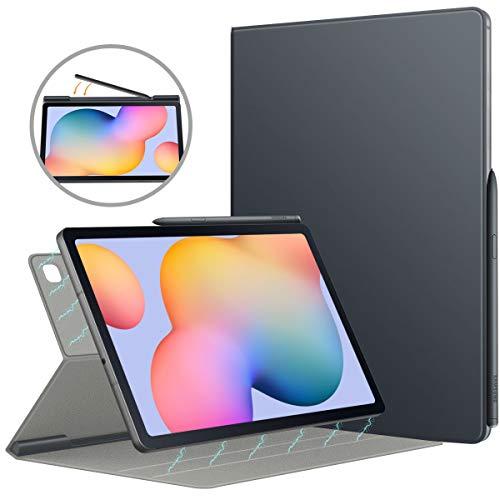 MoKo Hülle Kompatibel mit Galaxy Tab S6 Lite 10.4 2020 SM-P610/P615, Magnetische Befestigung Schutzhülle Folio Smart Case Auto Schlaf/Aufwach Tablet - Space Grau