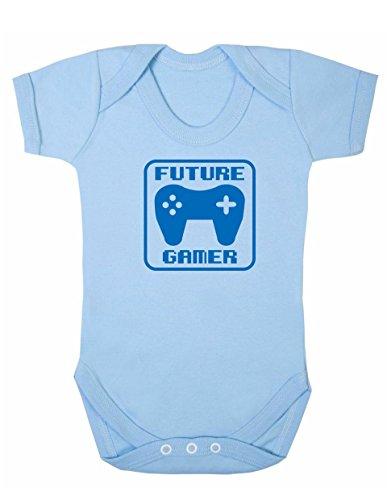 Art Hustle Future Gamer - Body unisex de manga corta para bebé (12-18 m), color azul