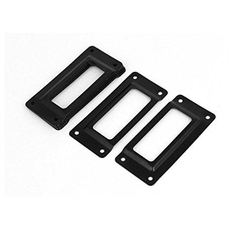 sourcing map sourcingmap® Cajón de fichero de tarjetas de regalo caja de la caja soporte Etiqueta de la etiqueta de los marcos de 62mm x 29mm Negro 8PCS
