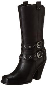 M Johnny Ringo Womens Western Boot Square Toe Black Patent Leather 628-13C B