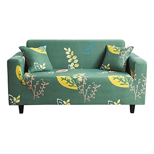 BAIDUN Fundas Sofas 1/2/3/4 Plazas, Protector De Muebles Elástico De 1 Pieza, Moderna Cubre Sofa Decorativa para Sofá, Impresa Cubre Sofa Lavable para Niños Perros Gato Green-XL(235-300CM)