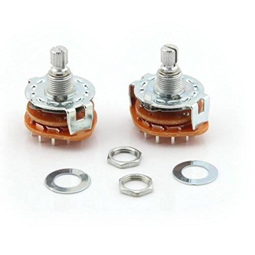 2pcs 3Pole 4Posiciones AC 250V 0.6A 125V 0.3A split Shaft Rotary Switch