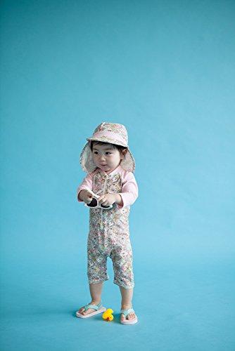[VaenaitBaby]0-24ヶ月紫外線カットラッシュガードベービー子供女の子長袖ワンピース水着BabyFloralS
