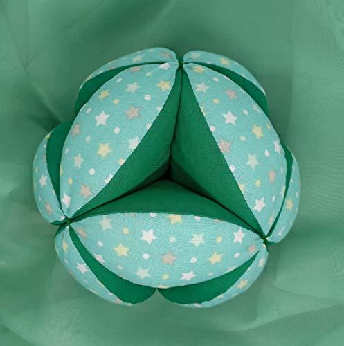 Pelota Montessori - Estrellas Multicolor Verde