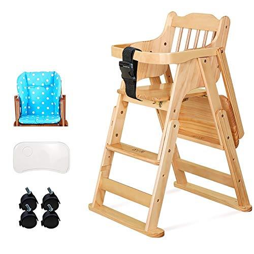 Chaises Hautes MYL en Bois, Hauteur Réglable Alimentation Bébé Solution avec Coussin for Enfants/Bébés/Enfants en Bas Âge, Soutien 60kg / 130lbs (Color : Style 3)