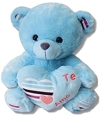 Grupo Moya Oso de Peluche con Corazon y Frase de Amor Te Amo de 45cm Color Azul