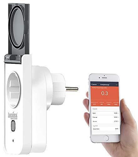 Luminea Home Control WLAN Aussensteckdose: Outdoor-WLAN-Steckdose, komp. zu Amazon Alexa & Google Assistant, 16 A (WLAN Steckdose Außenbereich)
