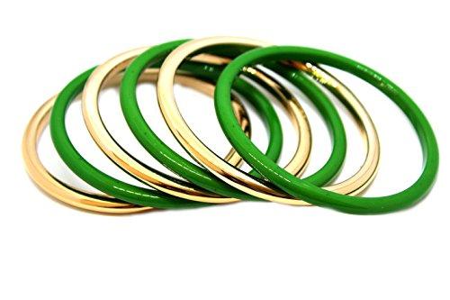 Westland GmbH Armreif-Set 6 teilig (grün/Gold) 051-00022
