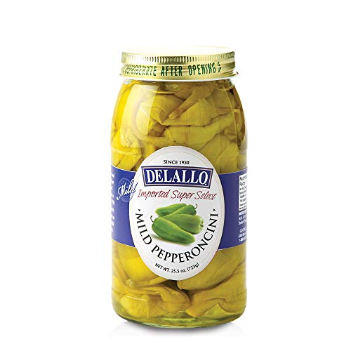 DeLallo Mild Pepperoncini, 25.5-Ounce Jars (Pack of 6)