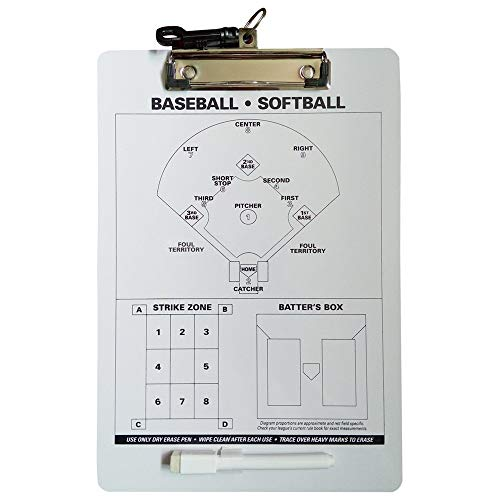 ZPLJ Coach Board Baseball Line-Up Board Wooden Coaching Clipboard Athletic Specialties Coacher Magnetic Tactical Coaching (Color : White, Size : 31.5x21.5cm)
