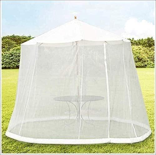 RUINAIER Giardino convertire Il Tuo ombrellone in Un Gazebo Giardino Esterno con Cerniera di Apertura Aiuta a Proteggere dalle zanzare ombrelloni e tavolini del Patio