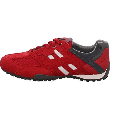 Geox Herren Uomo Snake K Sneaker, Rot (RED/Grey), 44 EU