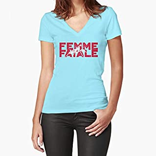 Femme Fatale (Praying Mantis) Fitted VNeck TShirt, Unisex Hoodie, Sweatshirt For Mens Womens Ladies Kids